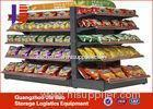 4 Tier Store Display Shelving Single Sided Gondola Shelving Cold Rolled Sheet
