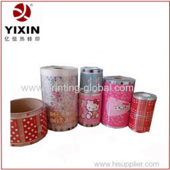 Heat transfer film with PP material for plastic pet bowl