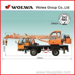 5 ton truck mounted crane GNQYZ-595 with self made chassis