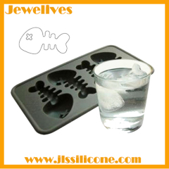 silicone fish bone ice cube mold