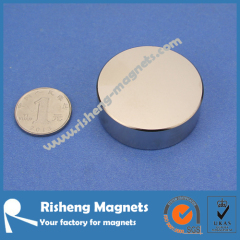 Strong Disc Magnets D45 x 10mm N42 Neodymium Magnets NiCuNi Plated