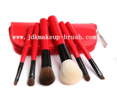 Red makeup brush kit wholesale