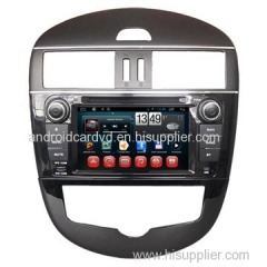 Factory Car Audio System Nissan Tiida USB DVD Player GPS / Glonass Navigation With TFT Screen
