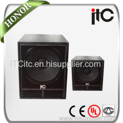 Professional two way subwoofer speaker