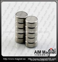 Rare earth ndfeb cylinder magnet n52