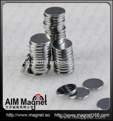 Nickel coating neodymium disc magnet D15 x 1mm