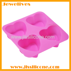 silicone cookie mold with heart shape