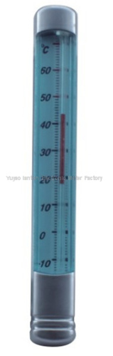 plastic case glass thermometer