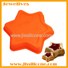 silicone muffin cake mold star shape
