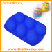 blue easter egg shape silicone bakeware