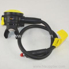 Scuba diving breath apparatus for air pressure/2 regulator