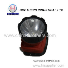 Led plastic battery headlamp