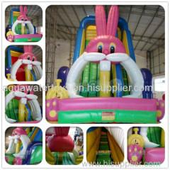 Lovely Inflatable Rabbit Slide