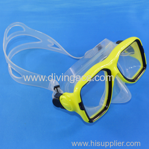 New fashionable tempered glass diving mask/diving goggles