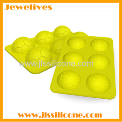 6 cavities football shape silicone ice mold