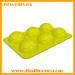 6 cavities football shape silicone ice mold
