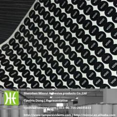 Custom Tiny Round black and white Destructible Vinyl Warranty Security VOID Adhesive Sticker Label
