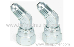 45° Elbow JIC male 74° cone/ JIC female 74° seat Fittings 2J4