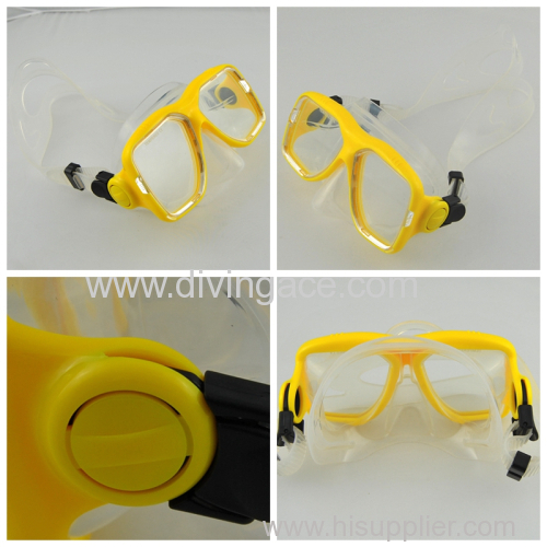 Popular two lens diving glasses/diving goggles