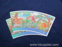 Festival paper cup and colorful paper cup fans