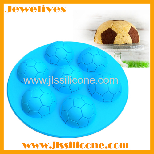 silicone football ice mold