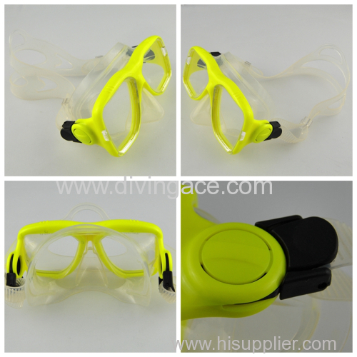 Brand new fashion silicone glass lens diving mask factory