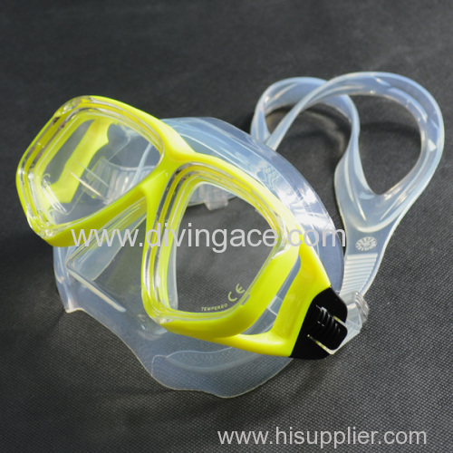 New PVC tempered glass diving mask/swimming goggles