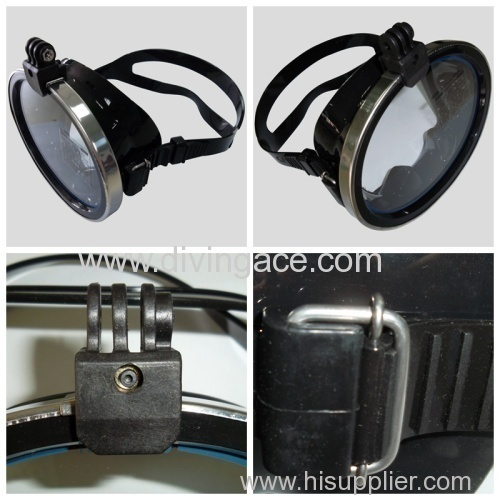 Single lens diving equipment for under/diving goggles