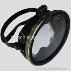 Low volume one lens diving mask/underwater equipment