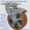 Industrial swivel heavy duty PU wheel braked casters