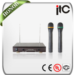Professional China VHF 2 channels wireless microphone