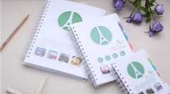 A5 PP cover 4 subject double wire journal