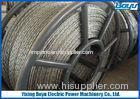 Anti twist 18 Strands Breakage load 372kN Braided Steel Wire Rope for Overhead Transmission Line 22m