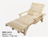 Wooden comfortable beach chair