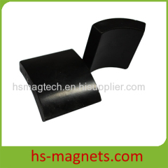 Sintered Motor Permanent Arc Magnets Black Epoxy