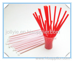 Red straight straw Jumbo straw paper wrapped