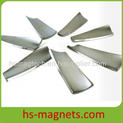Zinc Plated Curved Neodymium Magnet