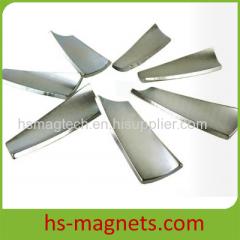 Zinc Plated Curved Neodymium Magnet