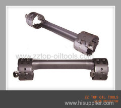 Oilfield punching bolt cable protector