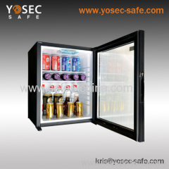 32L no noise hotel absorption minibar with glass door