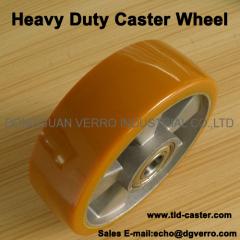 Aluminum core heavy duty caster wheels