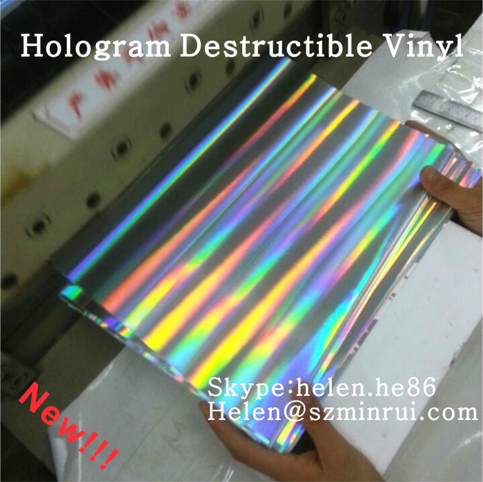 High Security A4 Size Self Destructive Hologram Eggshell