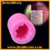 beauty flower shape cylinder silicone candle mold