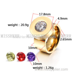 Wholesale big stone cz ring cheap jewelry with fast delivery
