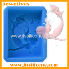 new production silicone chocolate mold mermaid shape