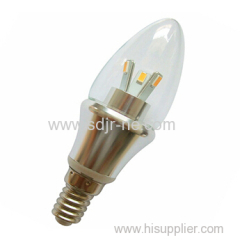 360 degree 3w led candle bulb lamp replace 30w halogen lamp
