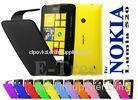 Yellow PU + PC Nokia Mobile Phone Cases , Nokia Lumia 520 Cover