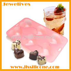 6 cavities silicone chocolate mold