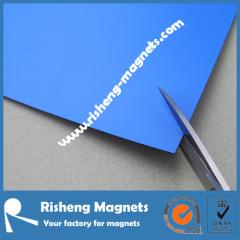 flexible vinyl magnetic sheeting blue