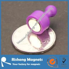 magnetic pushpin bulletin board purple
